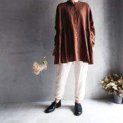 ikkuna/suzuki takayuki over blouse(イクナ/スズキタカユキ オーバー ブラウス)Walnut