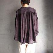ikkuna/suzuki takayuki gathered blouse �(イクナ/スズキタカユキ ギャザード ブラウス�)Charcoal Gray
