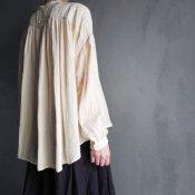 ikkuna/suzuki takayuki gathered blouse�(イクナ/スズキタカユキ ギャザード ブラウス�)Nude