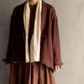 ikkuna/suzuki takayuki shawl-collar jacket(イクナ/スズキタカユキ ショールカラージャケット)Walnut