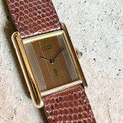 Cartier MUST TANK Trinity(カルティエ マスト タンク トリニティ)LM 純正尾錠
