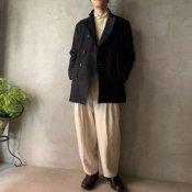 suzuki takayuki pea coat(スズキタカユキ ピーコート)Black/Unisex