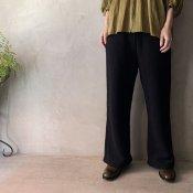 suzuki takayuki sweat pants/wide-staraight(スズキタカユキ スウェットパンツ ワイドストレート)Black/Unisex