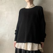 suzuki takayuki knitted pullover(スズキタカユキ ニッティドプルオーバー)Black