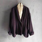 ikkuna/suzuki takayuki shawl-collar jacket(イクナ/スズキタカユキ ショールカラージャケット)Charcoal Gray