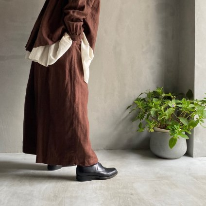 ikkuna/suzuki takayuki gathered pants� (イクナ/スズキタカユキ ギャザードパンツ) Walnut