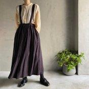ikkuna/suzuki takayuki suspender skirt(イクナ/スズキタカユキ サスペンダースカート)Charcoal Gray