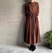 ikkuna/suzuki takayuki suspender skirt(イクナ/スズキタカユキ サスペンダースカート)Walnut