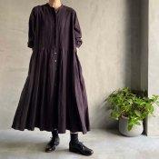 ikkuna/suzuki takayuki tucked dress (イクナ/スズキタカユキ タックドレス)Charcoal Gray