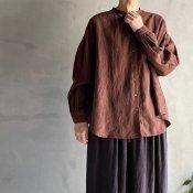 ikkuna/suzuki takayuki gathered blouse�(イクナ/スズキタカユキ ギャザード ブラウス�)Walnut
