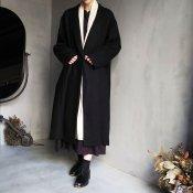 ikkuna/suzuki takayuki shawl-collar coat(イクナ/スズキタカユキ ショールカラーコート)Black