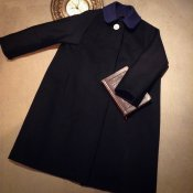 50's Style 2way Coat / Cashmere Black (カシミア混 ウールコート)
