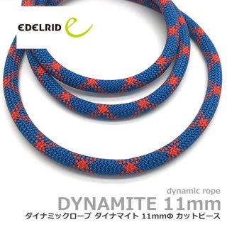 エーデルリット ダイナマイト 11mm  2m ターコイズ|カットピース (デバイスランヤード・カウズテール用 ダイナミックロープ)