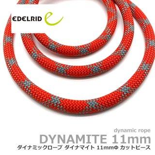 エーデルリット ダイナマイト 11mm  1.8m レッド| カットピース (デバイスランヤード・カウズテール用 ダイナミックロープ)