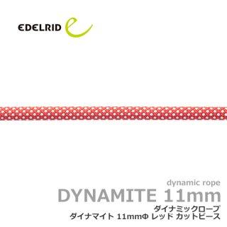 エーデルリット ダイナマイト 11mm  2.2m レッド|カットピース (デバイスランヤード・カウズテール用 ダイナミックロープ)