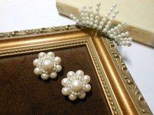 pearl flower イヤリング