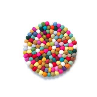 フェルト鍋敷き Colorful