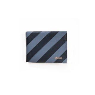 Wallet M -Grey & Black Stripes-