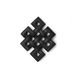 チベット・ネパール/エンドレスノット/ スクエアタイプ - Black