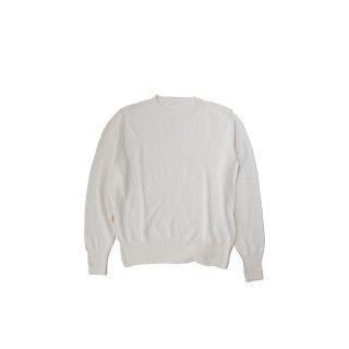 jiji/ クルーネックニット / WHITE