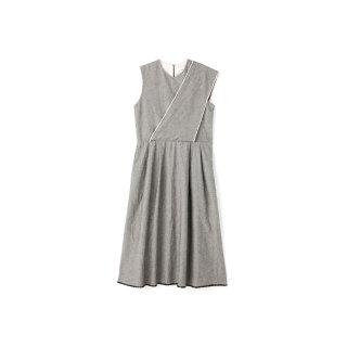 quitan / Amish Dress -cotton hemp twill / BLACK