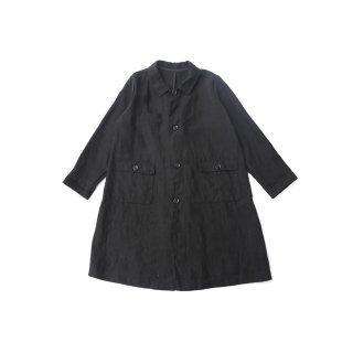 <ご予約商品>jiji/ ベルギーリネンワークコート / Black