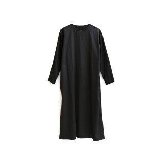 <一部ご予約>jiji / カフスワンピース/ Black