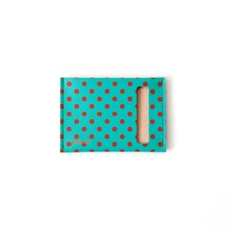 Wallet S -Green and Red Dots-