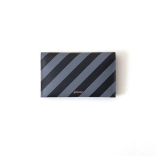 Wallet P -Grey and Black Stripes-