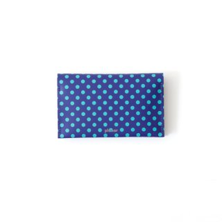 Wallet P -Blue and Green Dots-