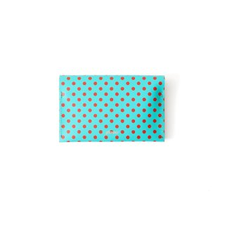 Wallet P -Green and Red Dots-