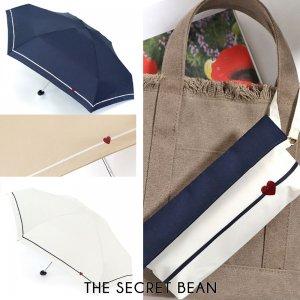 【新色追加】3color◆ハート刺繍入り折りたたみ傘