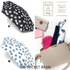 2color◆超コンパクト晴雨兼用フラワープリント折りたたみ傘