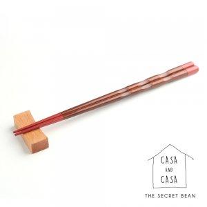 【CASA & CASA】【ゆうパケ】シンプル天然木箸置き