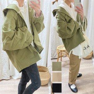 【SALE】【ゆうパケ】3color◆ボリュームスリーブ オーバーサイズツイルシャツ