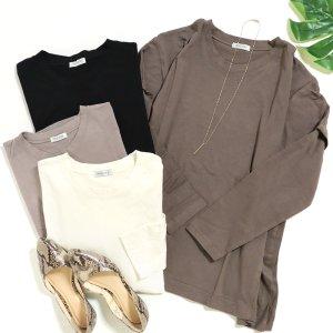 【ゆうパケ】レイヤード風オーバーサイズ長袖Tシャツ