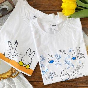 【ゆうパケ】【ミッフィー】2color◆miffy×鳥獣戯画 半袖Tシャツ