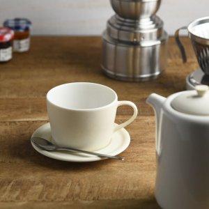 【CASA & CASA】 bico コーヒーカップ&ソーサー(バニラホワイト)