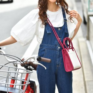 【春物新作】【ゆうパケ】パフスリーブコットンTシャツ