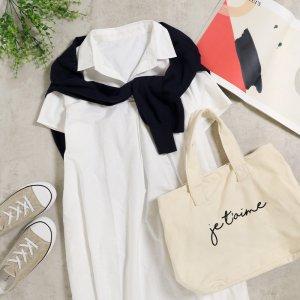 【SS新作】【ゆうパケ】スキッパーデザインロングシャツ 21SS-S5-10