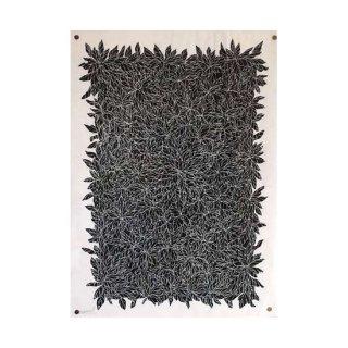 10 :  las hojas . negro