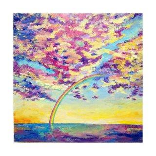 受注制作 『虹のかかる空と海の絵』アートジークレー