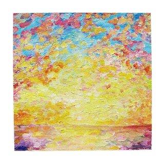 夜明けの空と海の絵(S)
