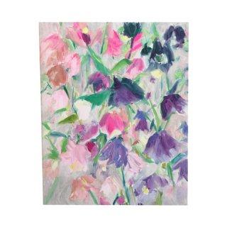 紫とピンクの花