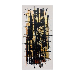 ABSTRACT EXPRESSIONISM GOLD&BLACK(M)