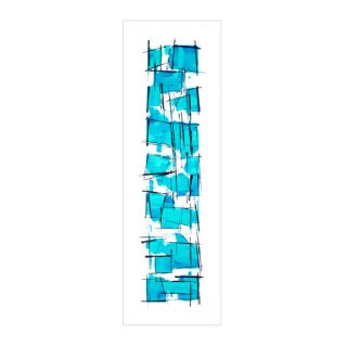 ABSTRACT EXPRESSIONISM TURQUOISE(XL)