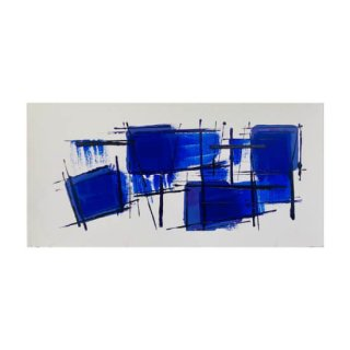 ABSTRACT EXPRESSIONISM DEEP BLUE(M)
