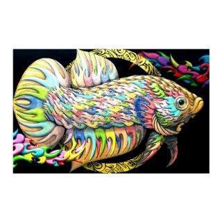 七色闘魚図