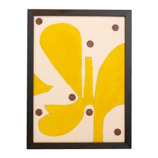 Yellow flower brown dots