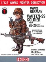 1/12?スケール W.W.II ドイツ武装親衛隊兵士 ルドルフ突撃兵 / ZB-26軽機関銃